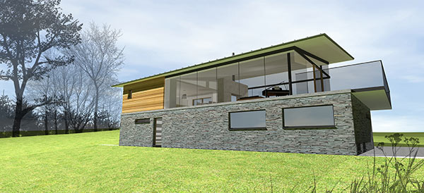 Passive solar house in Stirlingshire using Passivehaus principles