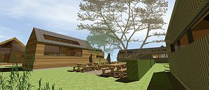 designs for passive solar office pods for Cultybraggan Perthshire