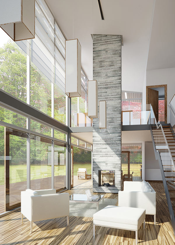 New architect designed house in Blairgowrie Perthshire