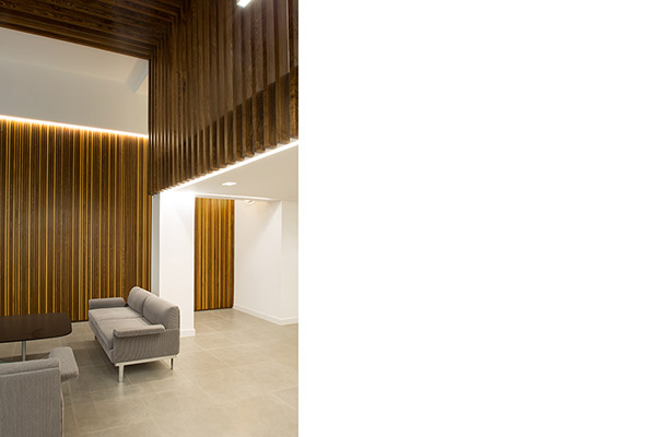 wood panelling design in Edinburgh commercial property