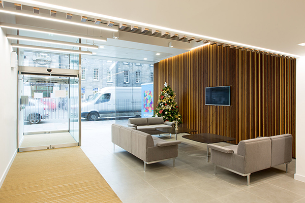 reception area design George Street offices